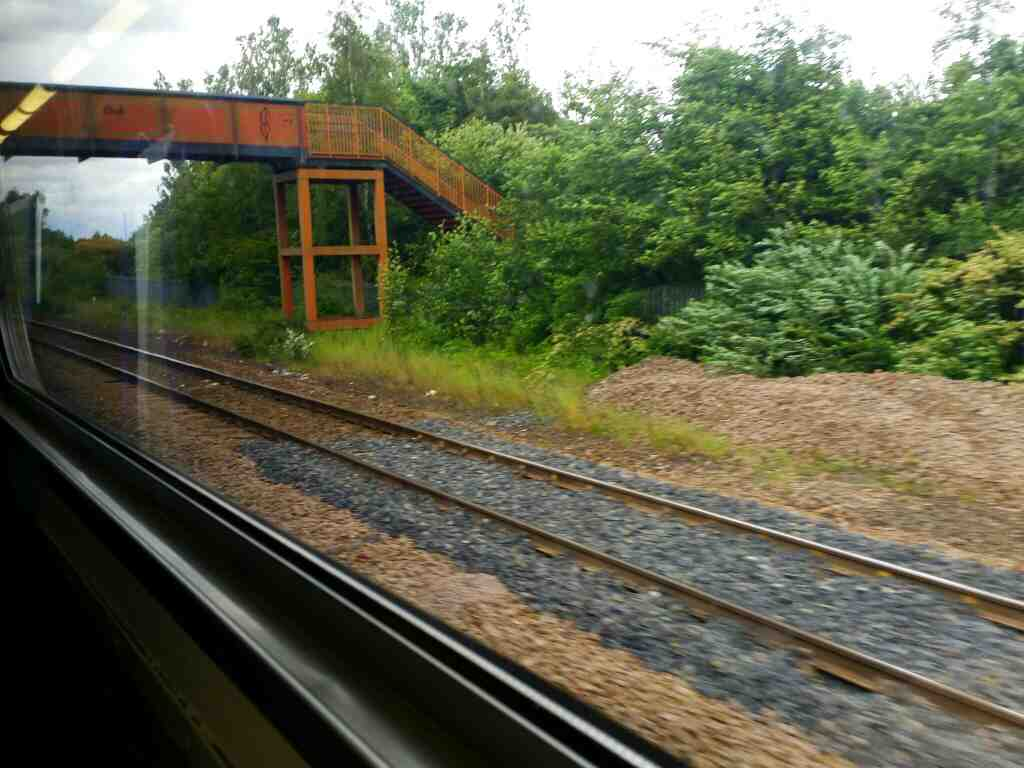 Pulling out of Stockon On Tees Railway Station on a Northern Rail Middlesbrough to Newcastle train