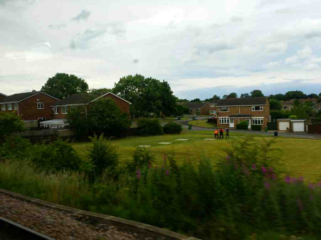 Passing Toddington Drive as we head out of Stockon on a Northern Rail Middlesbrough to Newcastle train