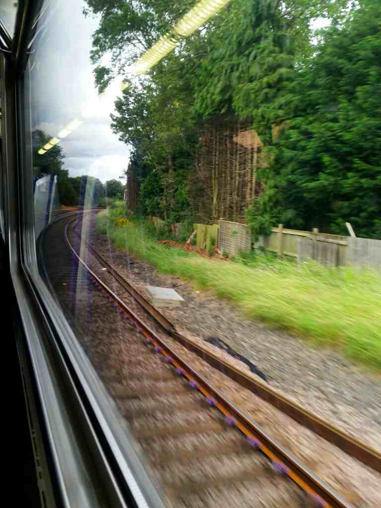 Between Stockon and Billingham on a Northern Rail Middlesbrough to Newcastle train