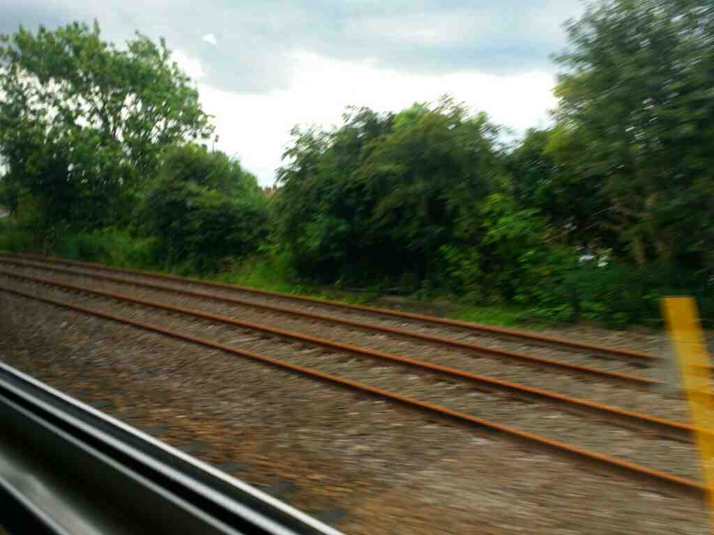 Railway to Port Clarence on a Northern Rail Middlesbrough to Newcastle train
