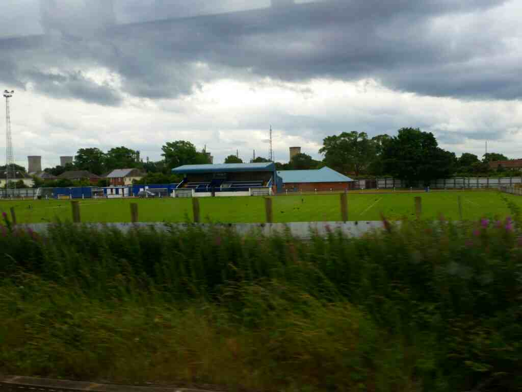 Passing Billingham Town Football Club on a Northern Rail Middlesbrough to Newcastle train