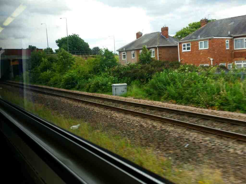 Approaching Billingham on a Northern Rail Middlesbrough to Newcastle train
