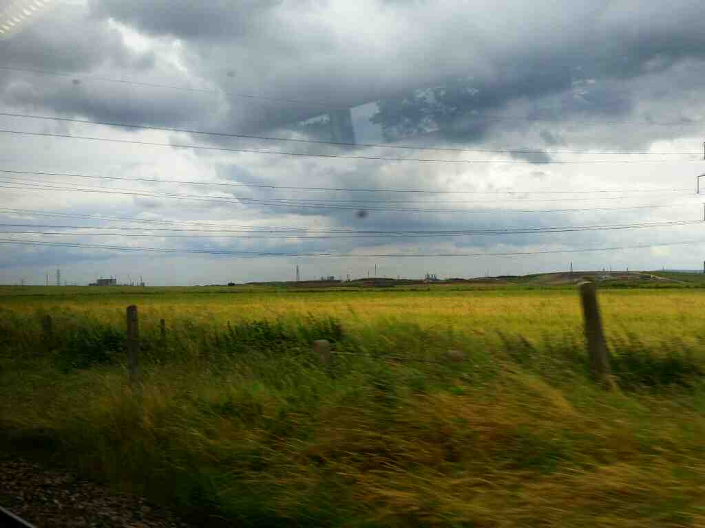 Between Billingham and Seaton Carew on a Northern Rail Middlesbrough to Newcastle train