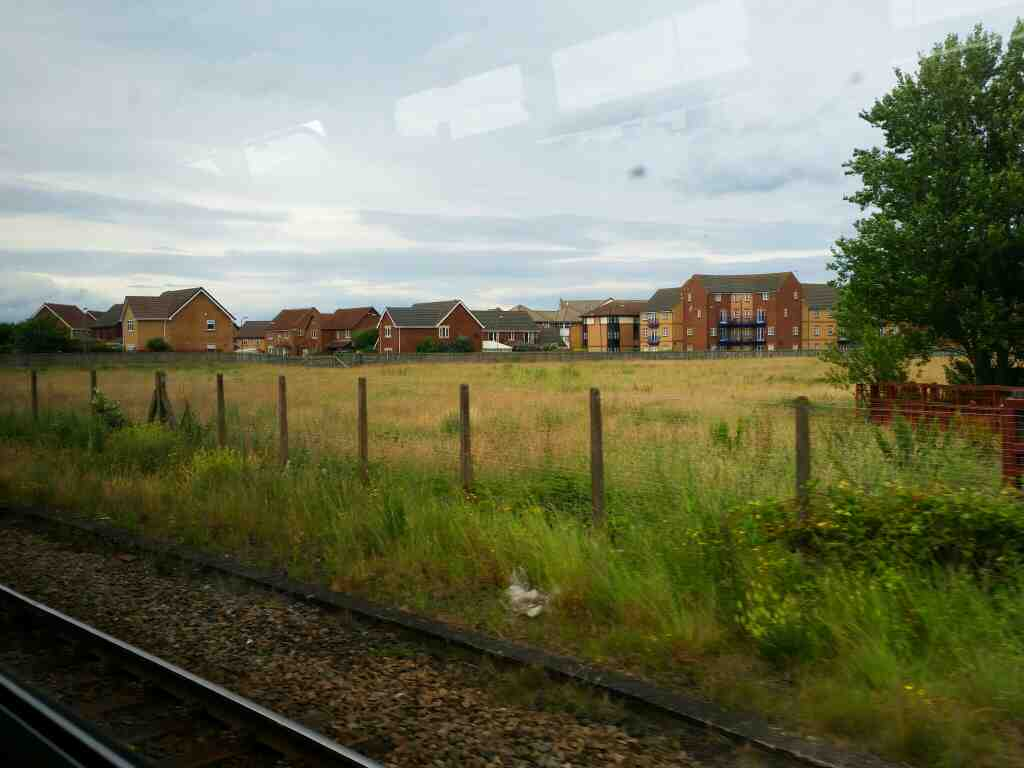 South of Hartlepool on a Northern Rail Middlesbrough to Newcastle train