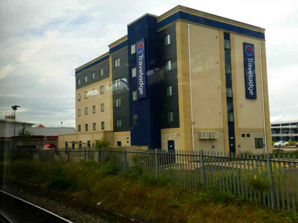 Passing Hartlepool Travelodge on a Northern Rail Middlesbrough to Newcastle train