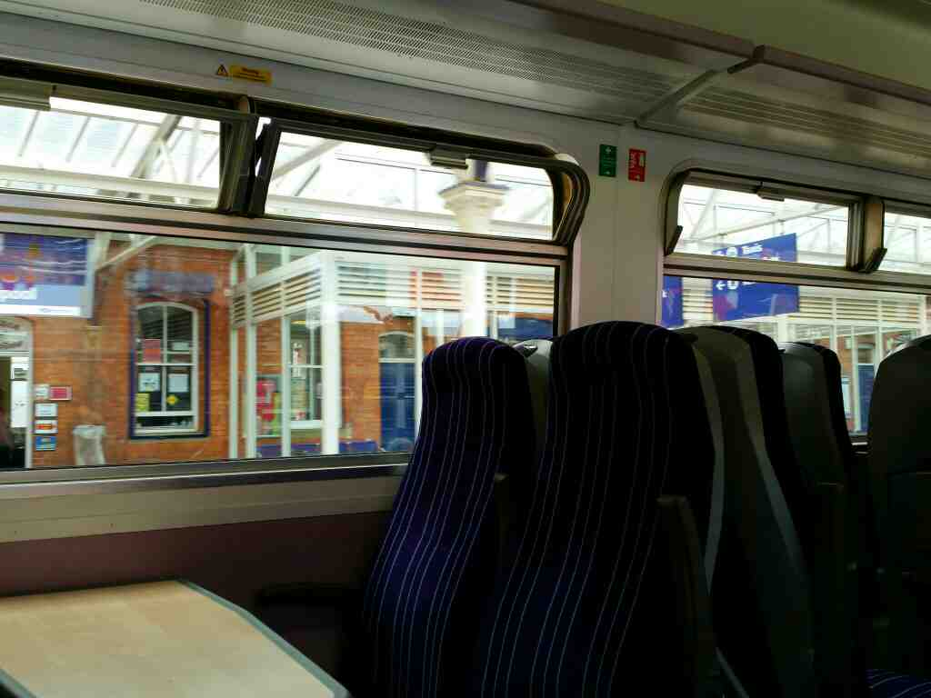 Setting off from Hartlepool on a Northern Rail Middlesbrough to Newcastle train