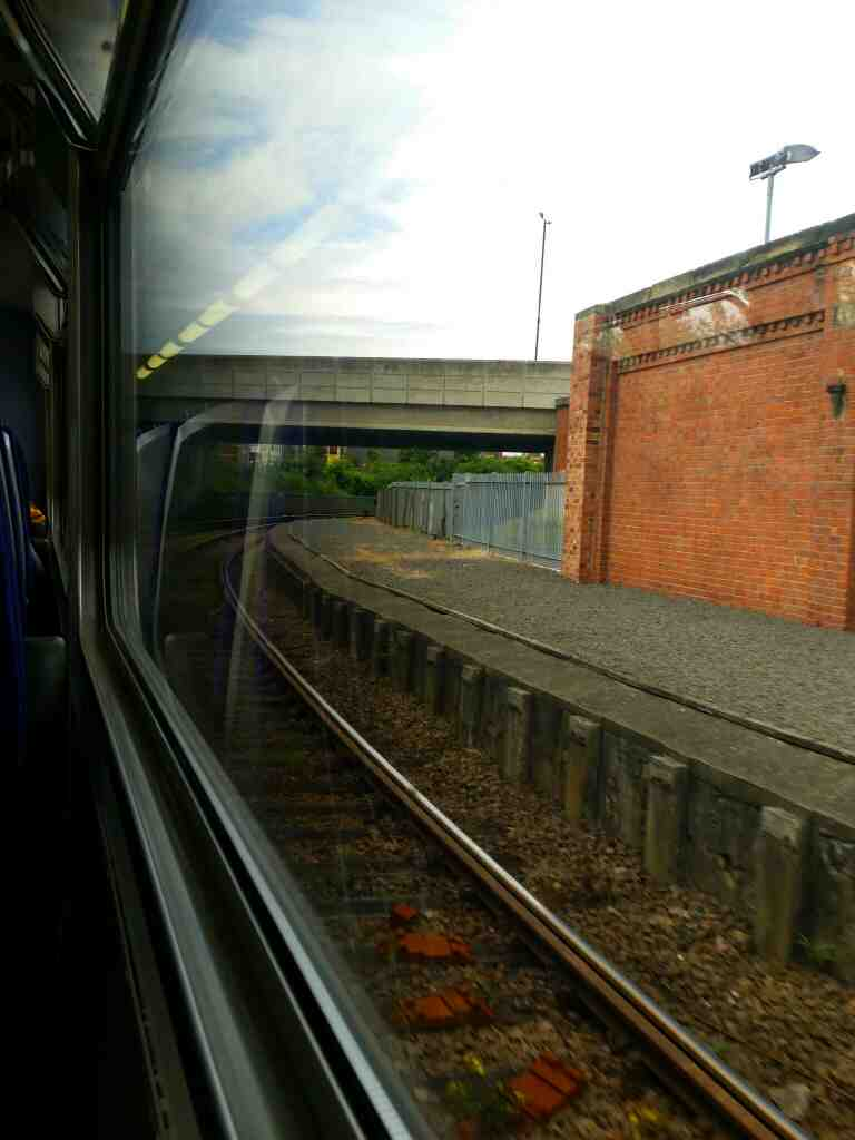 Pulling out of Hartlepool on a Northern Rail Middlesbrough to Newcastle train
