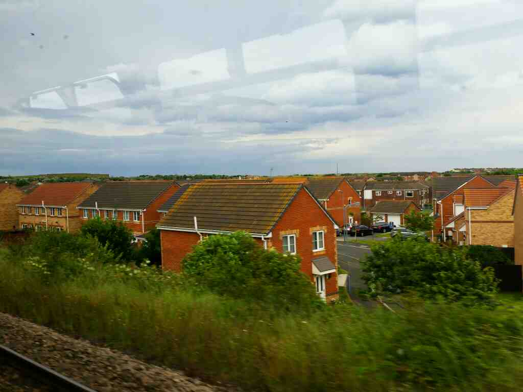 Making our way through Hartlepool on a Northern Rail Middlesbrough to Newcastle train
