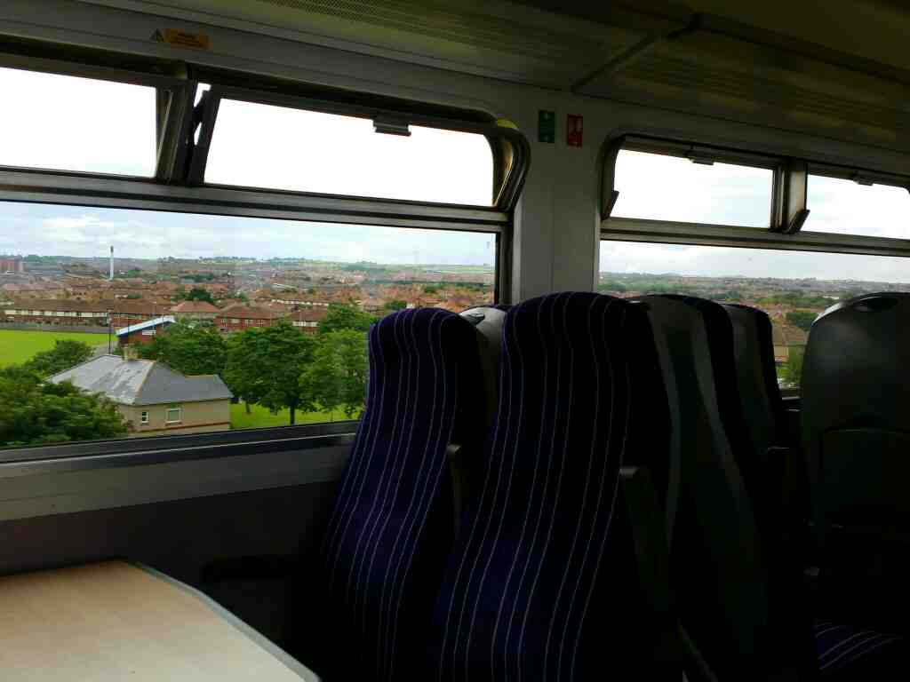 Looking over the West View area of Hartlepool on a Northern Rail Middlesbrough to Newcastle train