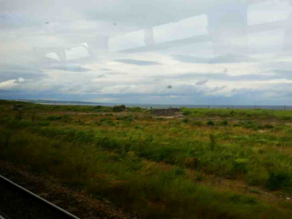 Coast north of Hartlepool on a Northern Rail Middlesbrough to Newcastle train