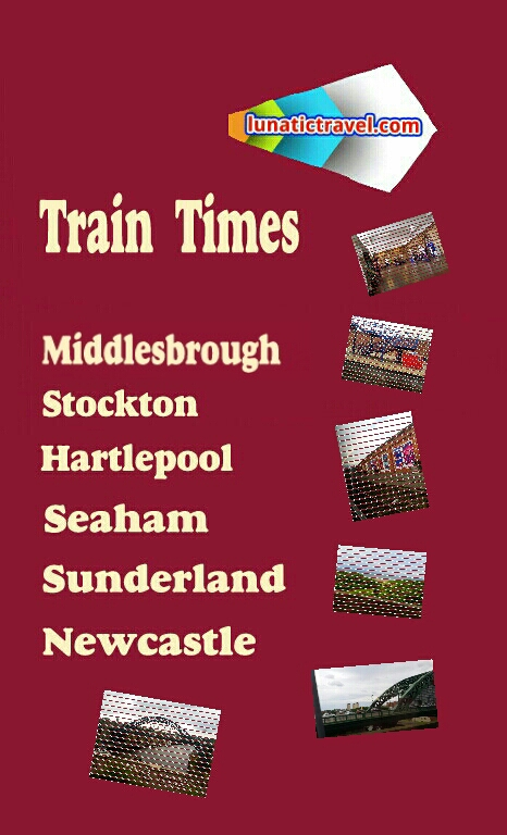 Train timetable for Middlesbrough Thornaby Stockton Billingham Hartlepool Seaham Sunderland Heworth