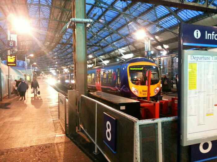 First Transpennine Express awaiting Departure to Scarborough