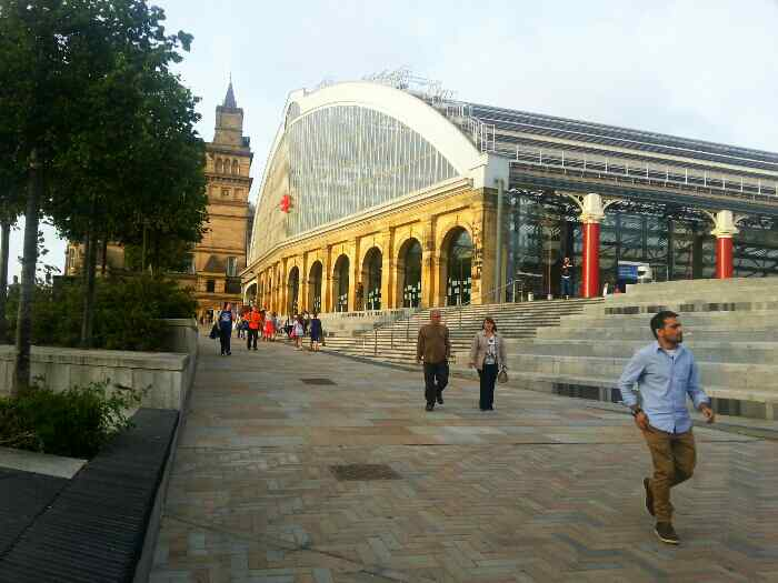 Outside Liverpool Lime St