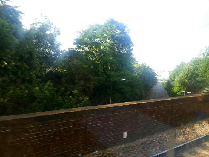 Crossing Liverpool Rd Irlam on a Norwich to Liverpool train