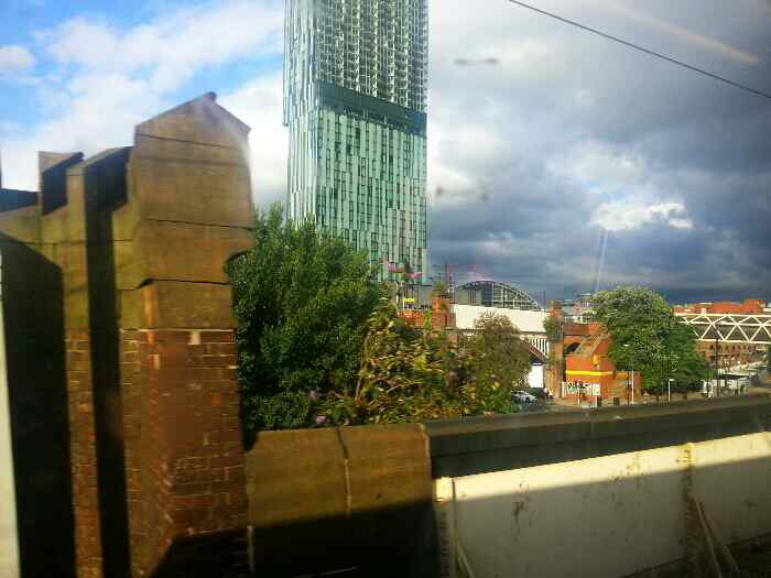 The Beetham tower and Gmex centre Manchester