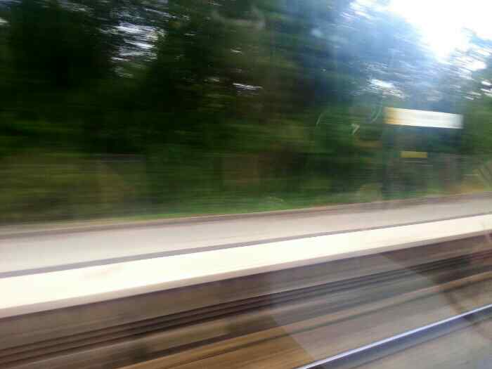 Flying through Hough Green station