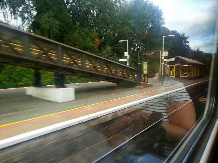 Passing through Hunts Cross Station