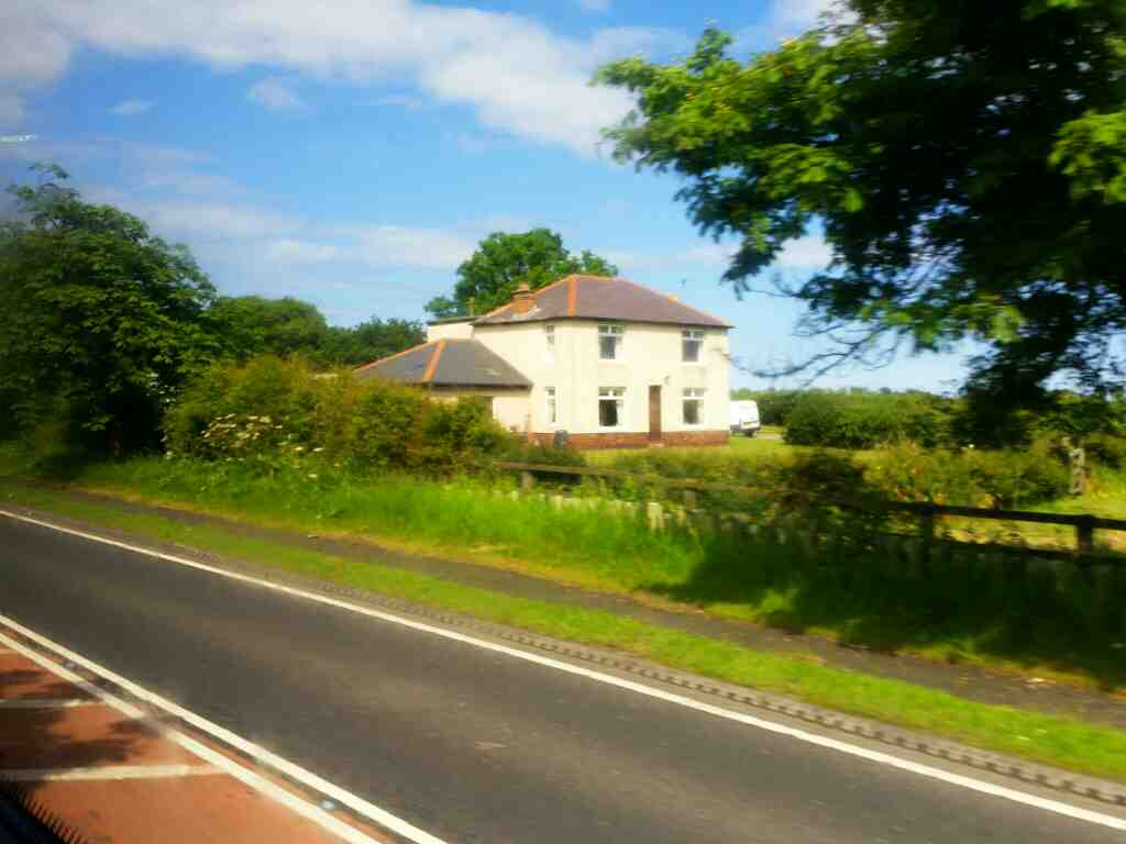 House near Tritlington on the A1 off a X15 Newcastle to Berwick bus