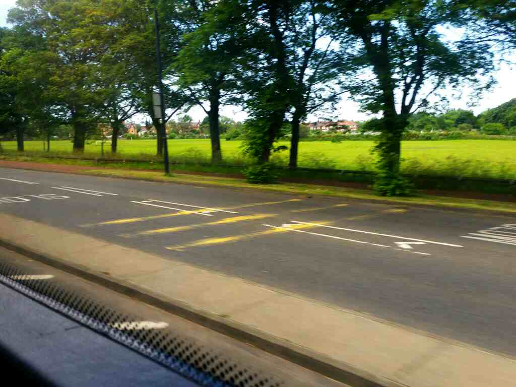 Passing Little Moor on Great North Rd Newcastle on a X15 Newcastle to Berwick bus