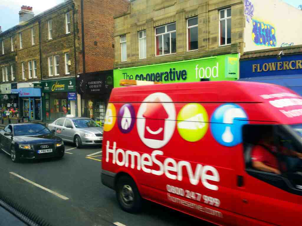Passes the Gosforth Co operative store on a X15 Newcastle to Berwick bus