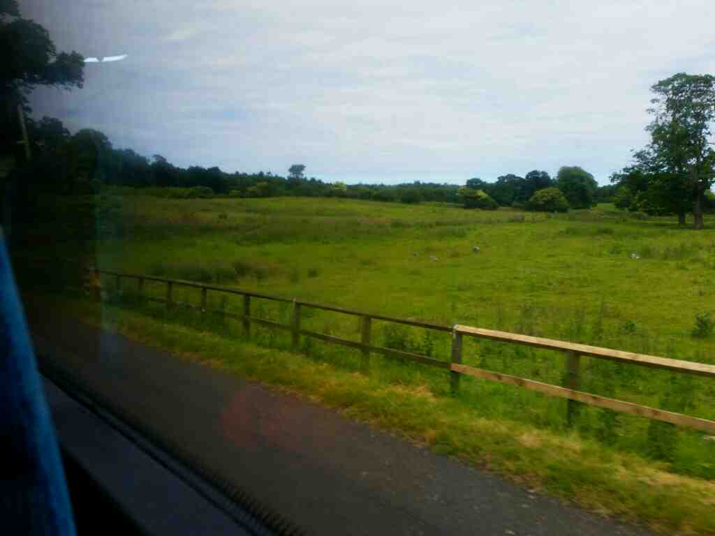 The Peth north of Alnwick on a X15 Newcastle to Berwick bus