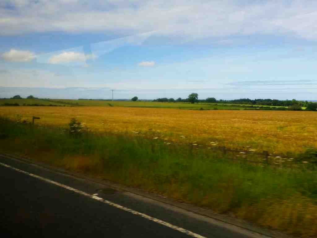 On the A1 North of Brownieside on a X15 Newcastle to Berwick bus