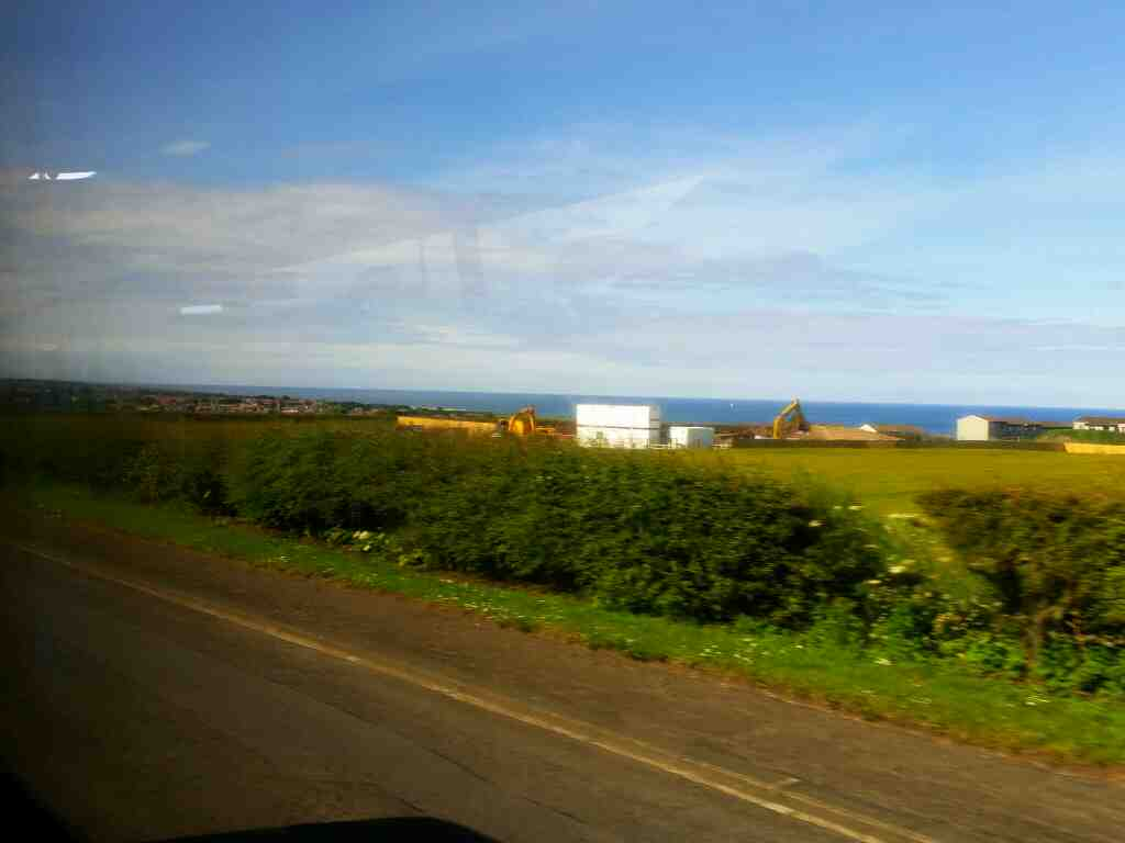 Sunnyside Cut Tweedmouth on a X15 Newcastle to Berwick bus
