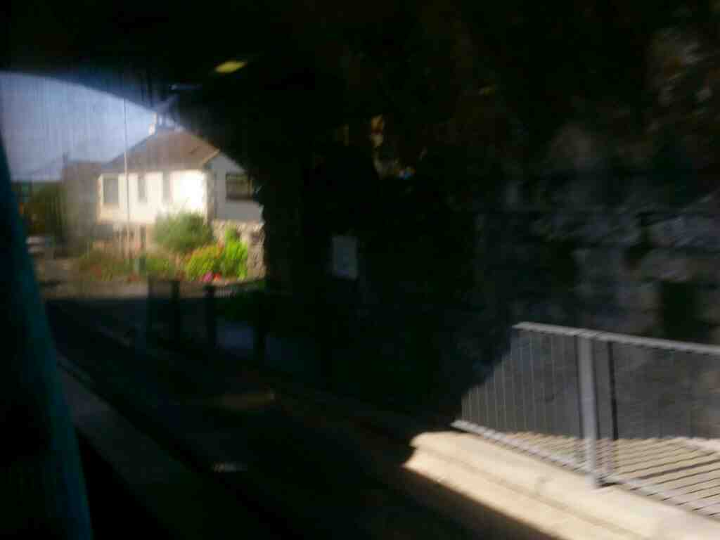 Passing under the East Coast Mainline on Northumberland Rd Tweedmouth on a X15 Newcastle to Berwick bus