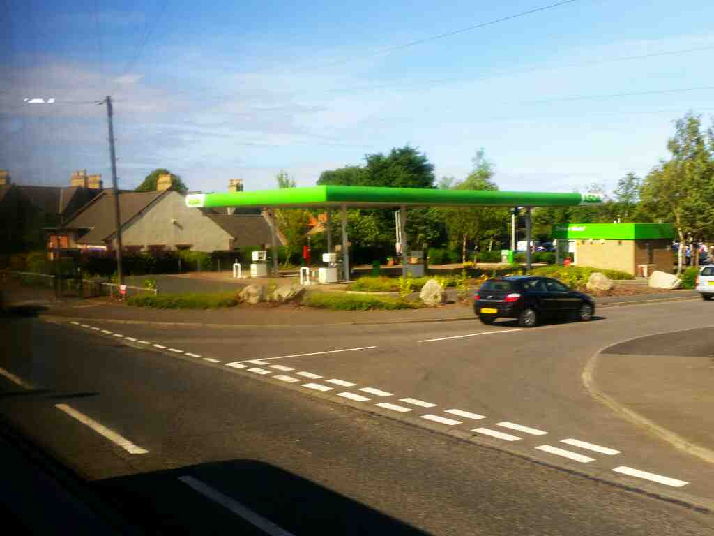 passes Asda Filling Station Main St Tweedmouth on a X15 Newcastle to Berwick bus