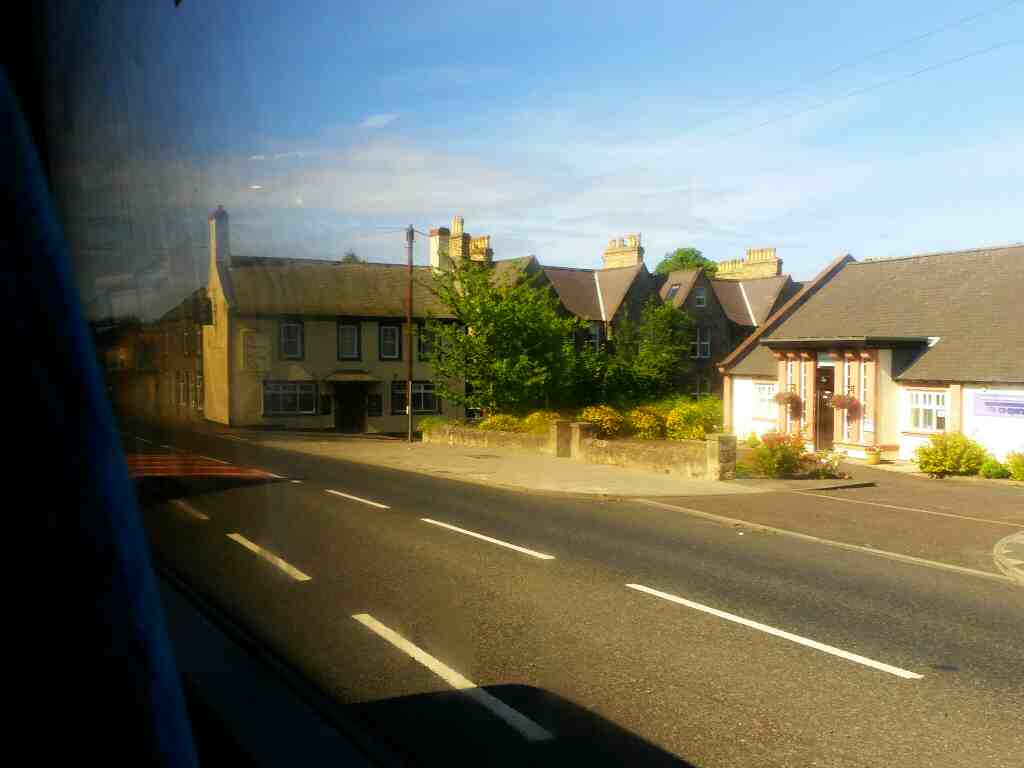 Passes the Queens Head Pub Church Road on a X15 Newcastle to Berwick bus