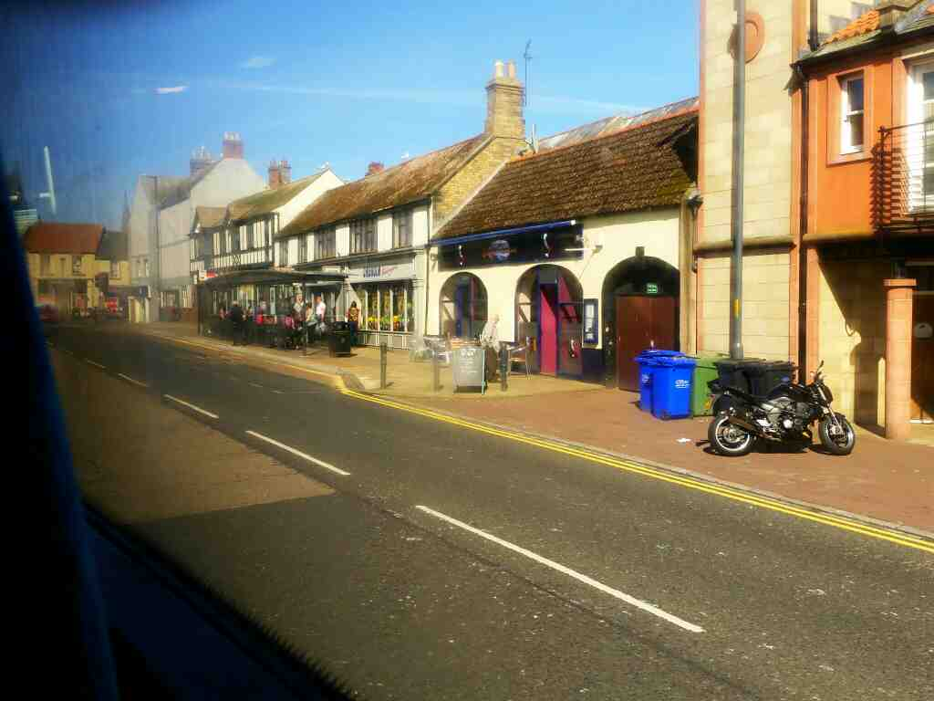Golden Square Berwick Upon Tweed on a X15 Newcastle to Berwick bus