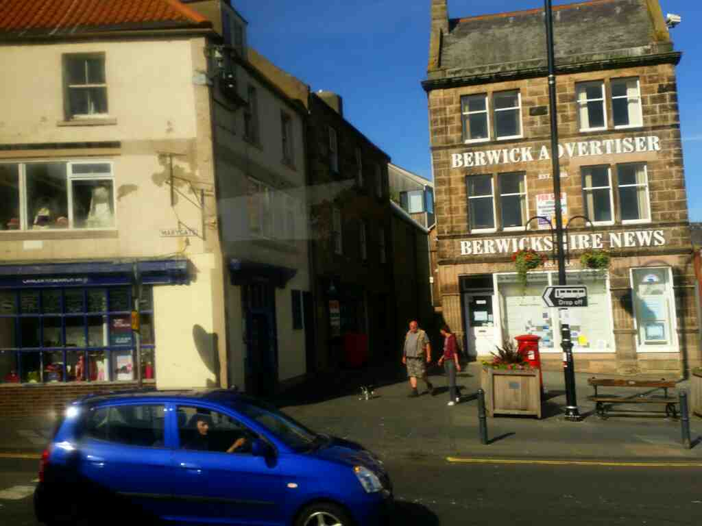 Junction of Golden Square and Marygate Berwick on a X15 Newcastle to Berwick bus