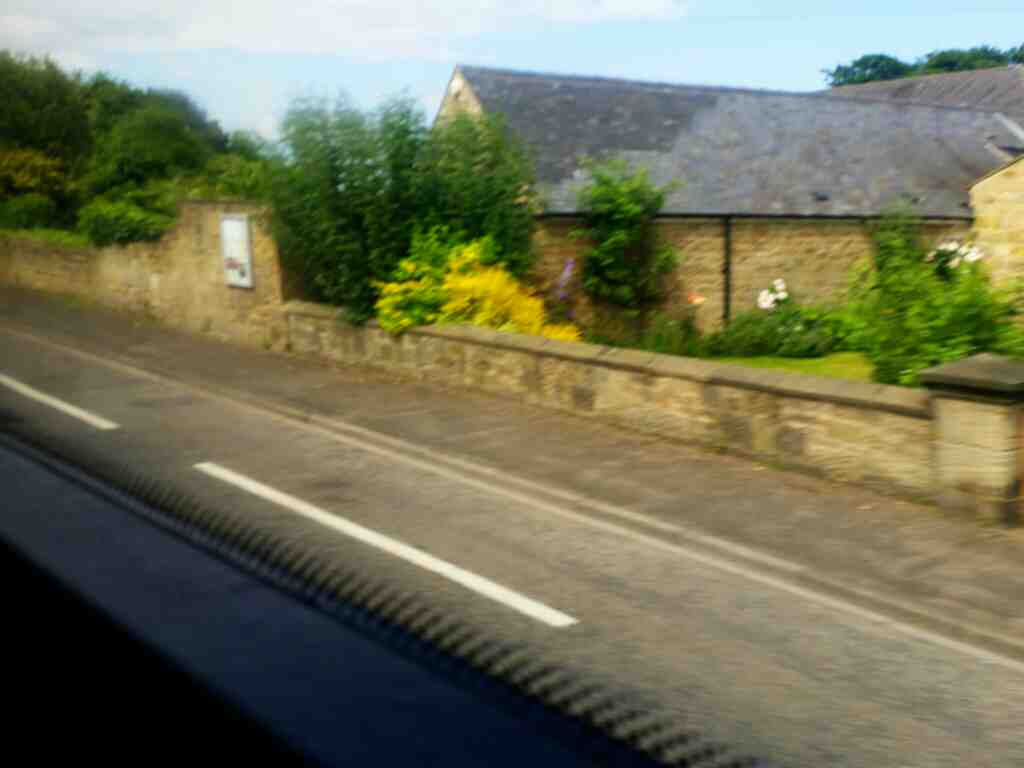 Great North Road south of Morpeth on a X15 Newcastle to Berwick bus