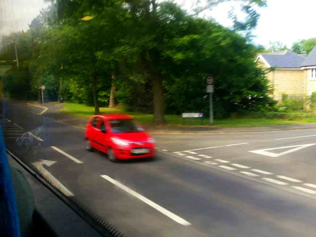 Junction of the A197 and Southgate Wood Morpeth on a X15 Newcastle to Berwick bus