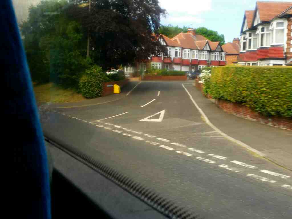 junction of Kendor Grove and the A197 on a X15 Newcastle to Berwick bus