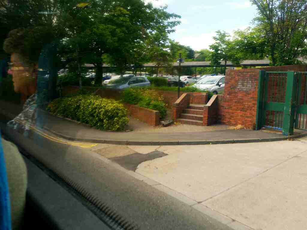 Passes Morrisons Stanley Terrace Morpeth on a X15 Newcastle to Berwick bus