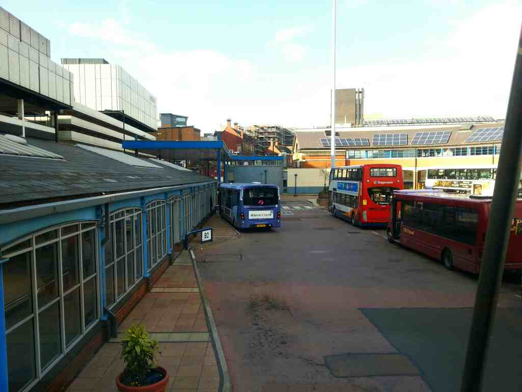 Sheffield bus station from a 265 Barnsley bound bus
