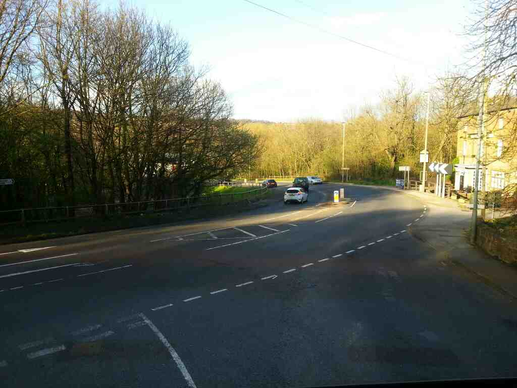 The A61 Park Rd Worsbrough Bridge off a 265 bus