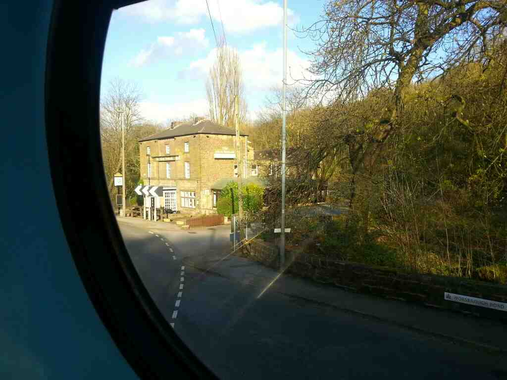 Passes the Olive Branch Restaurant Park Rd Worsbrough on a 265 Sheffield to Barnsley bus
