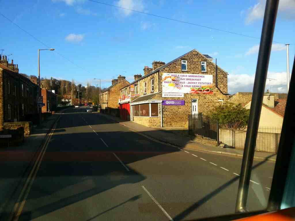 Passes Quid Bake Park Rd Worsbrough Bridge at the end of Lobwood on a 265 bus