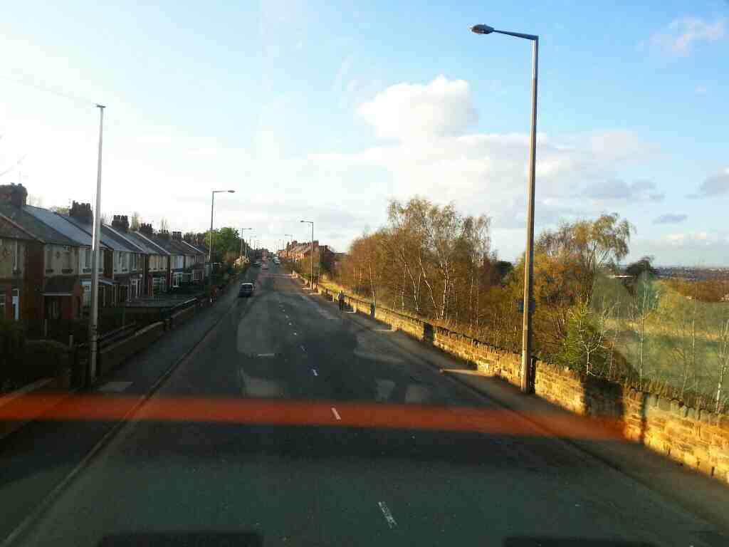 Heading towards Barnsley on Upper Sheffield Rd on a 265 bus