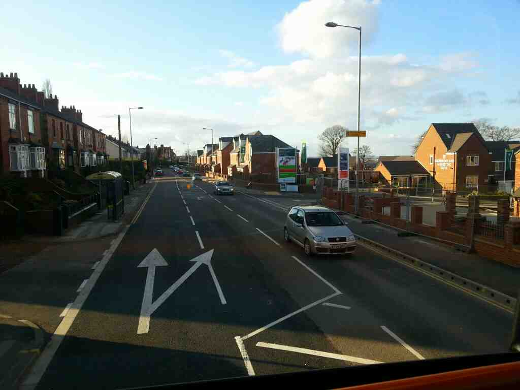 Upper Sheffield Rd Barnsley South Yorks on a 265 bus