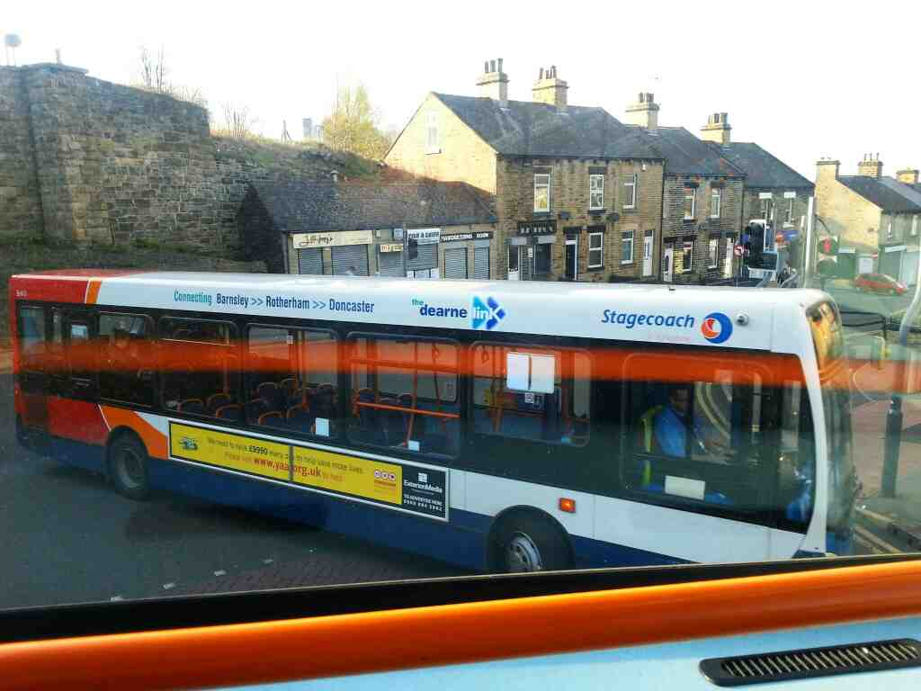 A Stagecoach bus Barnsley off a 265 bus