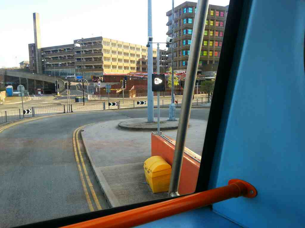 Kendray St as seen from Barnsley Interchange off a 265 bus