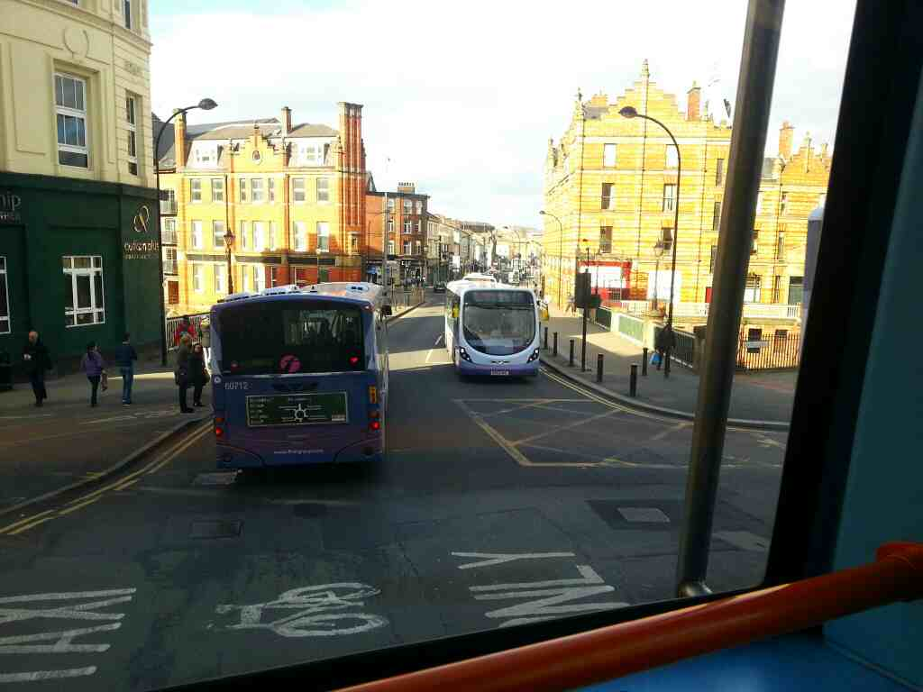Junction of Waingate Bridge St Castlegate and Ladys Bridge Sheffield off a 265 bus