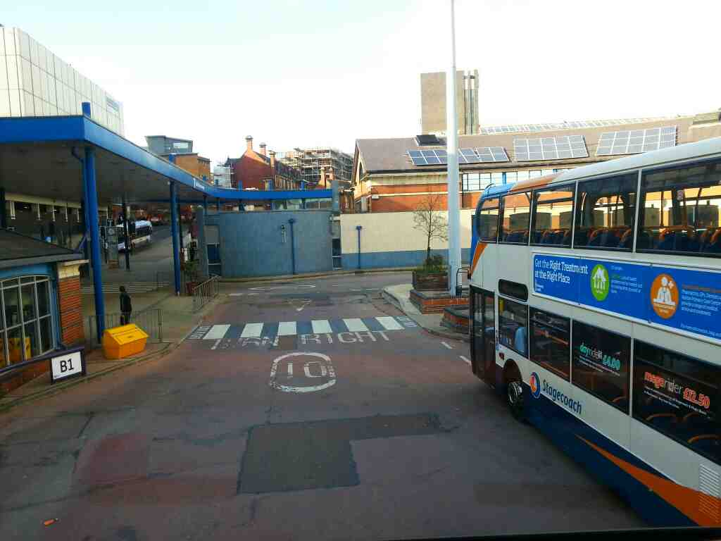 Onboard a Stagecoach 265 departing from Sheffield Bus station bound for Barnsley