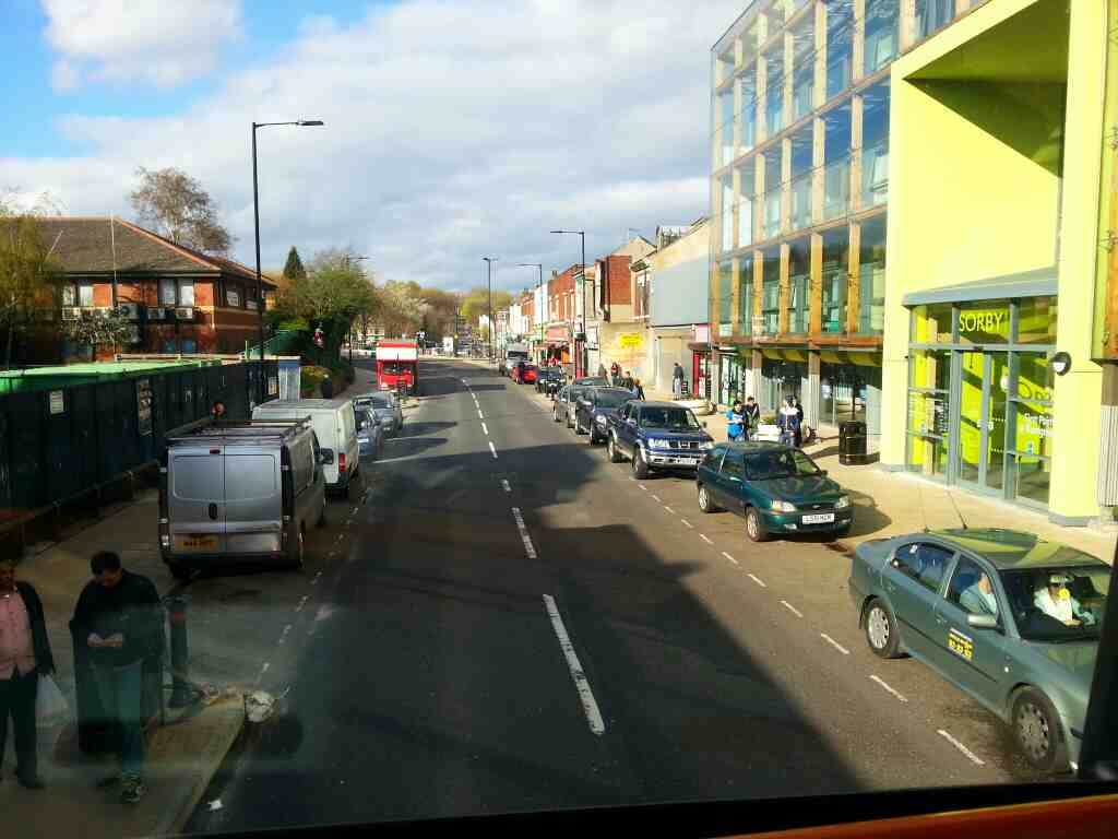 Passing through Spital Hill on a 265 Barnsley bound bus