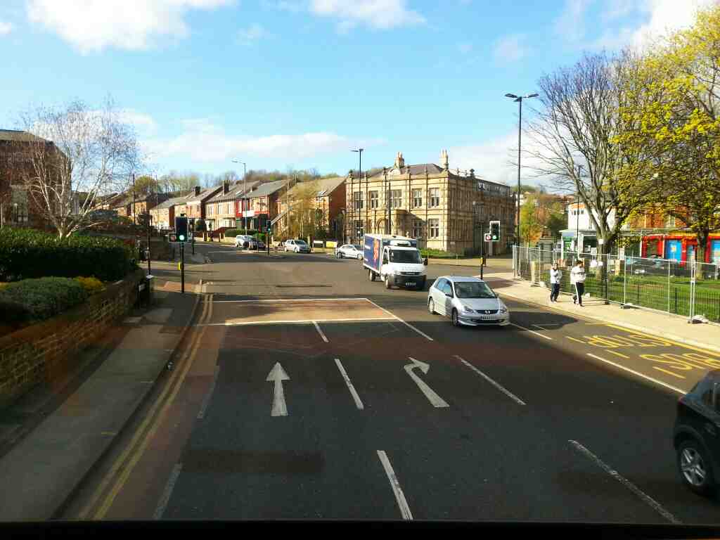 Junction of Hallcar St Burngreave Rd and Spital Hill off a 265 bus