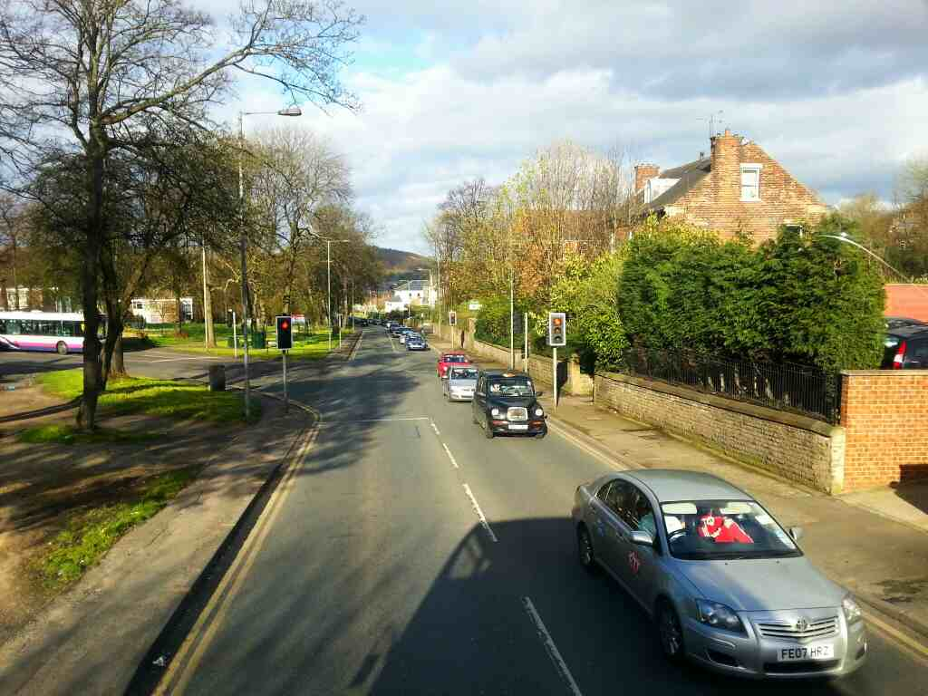 Junction of Norwood Rd and Barnsley Rd Sheffield off a 265 Barnsley bound bus