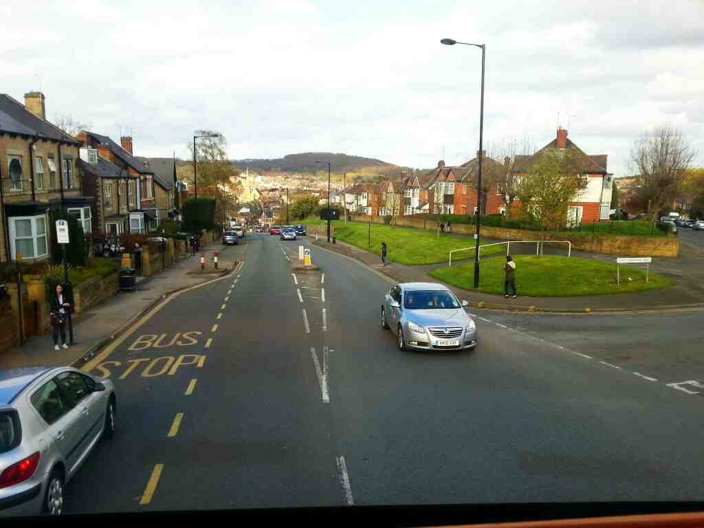 Barnsley Rd Sheffield heading in the direction of FIr Vale on a 265 Barnsley bound bus